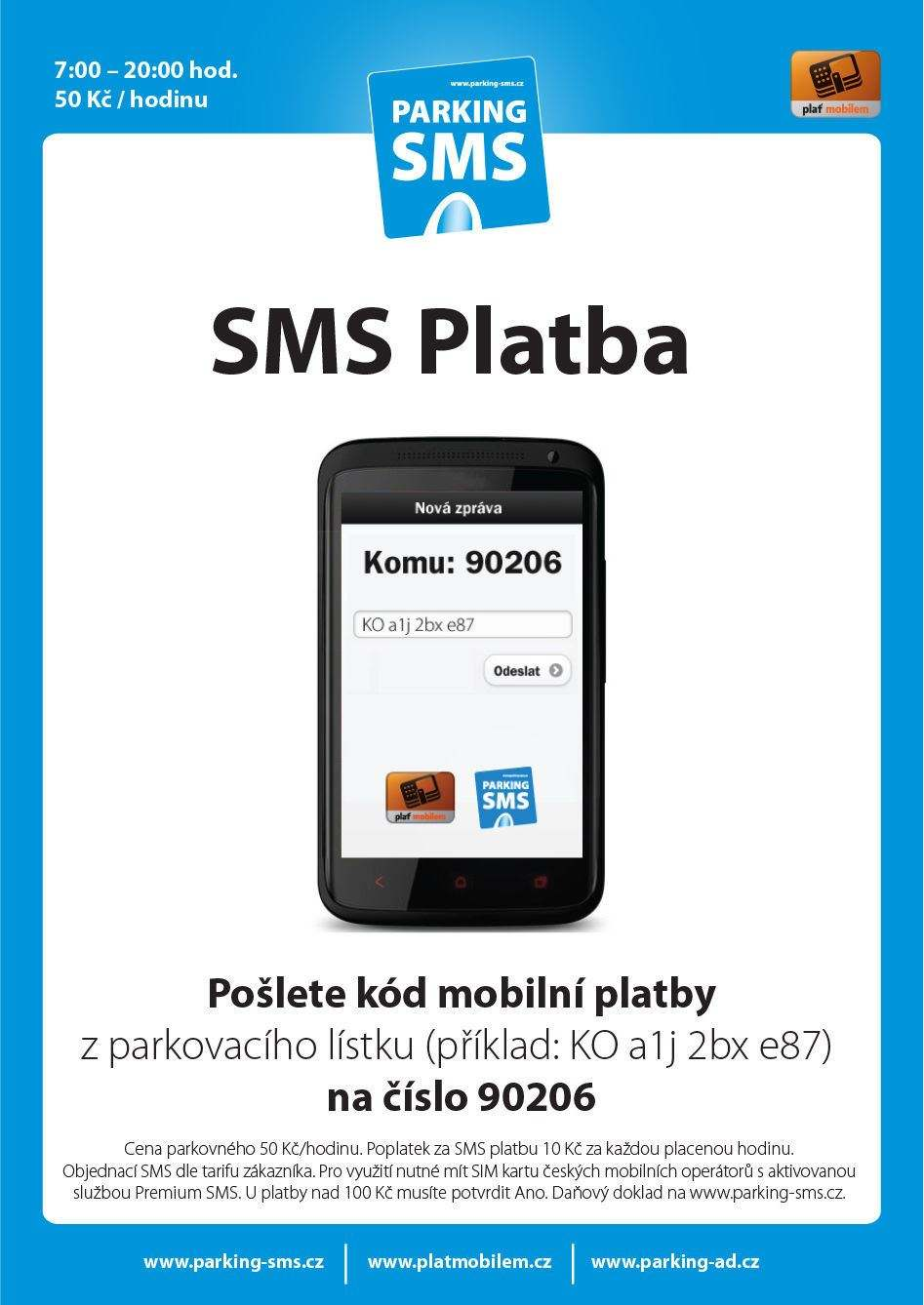 parking - SMS payment